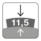 Segmenthoogte 11,5 mm