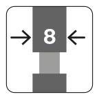 Segmentbreedte 8 mm